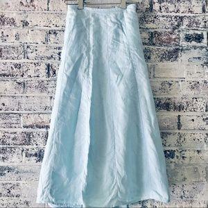 Talbots Irish linen flowing skirt